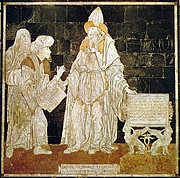 Foto do autor. Hermes Trismegistus in the marble pavement of the Dome of Sienna (Italy)