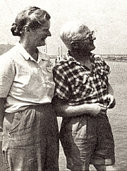 Foto de l'autor. Eric & Susan Hiscock, MBE