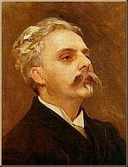 Foto del autor. Portrait with oils of Gabriel Fauré (1845 –1924) by John Singer Sargent, about 1889 (The Paris Museum of Music). (Public domain; Wikipedia)