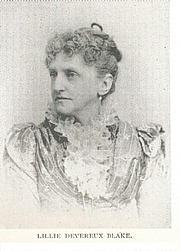 Forfatter foto. Lillie Devereux Blake (1835-    )  Buffalo Electrotype and Engraving Co., Buffalo, N.Y.