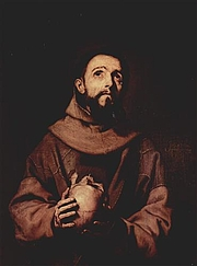 Foto auteur. St. Francis of Assisi, as depicted by Jusepe de Ribera