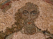 Foto do autor. Saint Quodvultdeus / Mosaic burial portrait in the Galleria dei Vescovi in the Catacombs of San Gennaro.