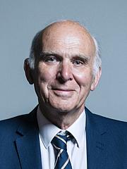 Foto do autor. UK Parliament official portrait of Vince Cable, 2017.