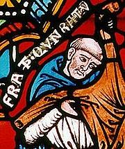 Foto do autor. Konrad von Marburg / Detail of a 13th-century church window, Elisabeth Church, Marburg.