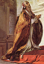 Foto do autor. Detail from Vision of St. Clement by Giovanni Battista, c. 1730-35