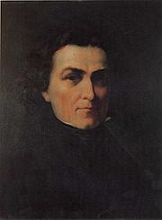 Forfatter foto. A portrait of France Prešeren by Božidar Jakac