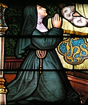 Foto do autor. Detail of Stainglass Window, Hombourg, France.  Photo by Norbert Schnitzler / Wikimedia Commons.
