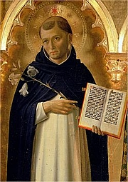 Foto do autor. Saint Dominic / Portrayed in the Perugia Altarpiece by Fra Angelico.