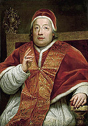 Foto do autor. Pope Clement XIII / Wikipedia