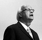 Författarporträtt. Thielicke, Prof. Dr.: Evangelischer Theologe, Bundesrepublik Deutschland November 1973