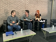 "Foto de l'autor. Philippe-Aubert Côté, Mathieu Lauzon-Dicso et Ariane Gélinas au Salon du livre de Montréal 2019 By ActuaLitté - Philippe-Aubert Côté, Mathieu Lauzon-Dicso, Ariane Gélinas, CC BY-SA 2.0, <a href=""https://commons.wikimedia.org/w/index.php?curid=85703097"" rel=""nofollow"" target=""_top"">https://commons.wikimedia.org/w/index.php?curid=85703097</a>"