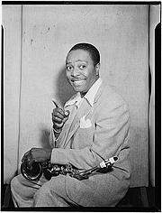 """Forfatter foto. Photo by William Gottlieb, Gottlieb Jazz Photos, Library of Congress at <a href=""""http://www.flickr.com/photos/library_of_congress/5019795247/in/set-72157624588645784/"""" rel=""""nofollow"""" target=""""_top"""">Flickr.com</a>"""