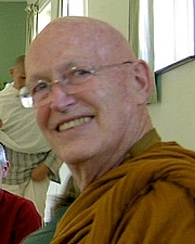 "Author photo. Ajahn Sumedho at Amaravati Buddhist Monastery, UK (cropped for Ajahn Sumedho only). By Jake Barnes, cropped by user:Xiengyod~commonswiki - Blessing (cropped from File:Ajahn Sumedho 1.jpg), CC BY 2.0, <a href=""https://commons.wikimedia.org/w/index.php?curid=80874325"" rel=""nofollow"" target=""_top"">https://commons.wikimedia.org/w/index.php?curid=80874325</a>"