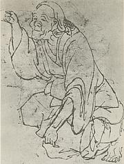Fotografia de autor. Hokusai (Selbstbildnis)