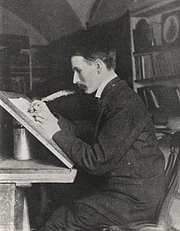 Foto do autor. Edward Johnston in 1902.