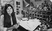 Forfatter foto. In her studio in 1983.
