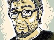 Författarporträtt. Selbstporträt von Jens Harder.