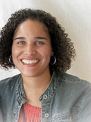 Foto de l'autor. Zetta Elliott. 2009 Baltimore Book Festival. ©2009.
