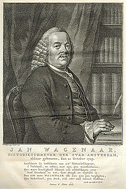 Författarporträtt. Engraving by Jacob Houbraken, after a painting by Jacobus Buys (1766)