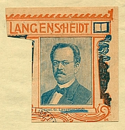 "Författarporträtt. Gustav Langenscheidt.  Courtesy of the <a href=""http://digitalgallery.nypl.org/nypldigital/dgkeysearchdetail.cfm?trucID=1028782&imageID=1552756""> NYPL Digital Gallery </a> (image use requires permission from the New York Public Library)"
