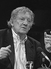 Forfatter foto. Hugo Claus in Vlaams Cultureel Centrum, november 15 1986