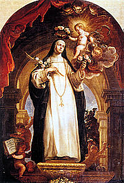 Foto do autor. Saint Rose of Lima / By Claudio Coello (1642–1693), in the Prado Museum, Madrid, Spain.