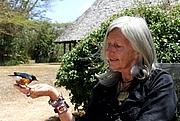 Kirjailijan kuva. Kuki Gallmann 2012