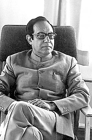 Foto do autor. Ajit Mookerjee in 1973 at Haa Retreat Center