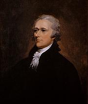 "Autoren-Bild. Alexander Hamilton (author of the majority of articles published under the name ""Publius"")"