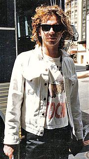 Foto do autor. Michael Hutchence in 1986. photo by Nancy J. Price