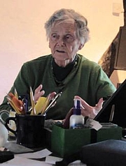 Foto de l'autor. June Goodfield [credit: The Write House; source: Rivers of Time promo on YouTube]