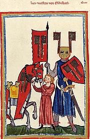Författarporträtt. Codex Manesse (c.1300)