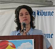 Författarporträtt. Photo by Lilithcat, taken at Printers Row Book Fair, 7 June 2008