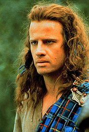 Autoren-Bild. Christopher Lambert as Connor MacLeod in Highlander.