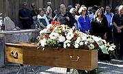 Foto de l'autor. Jean Lacouture décédé le 16 juillet 2015 lors de la cérémonie funéraire du 20 juillet à Roussillon, Vaucluse