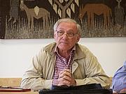 Author photo. Sadik J. al-Azm at University of California, Los Angeles, 2006 Lecture at Dept. of Near Eastern Studies
