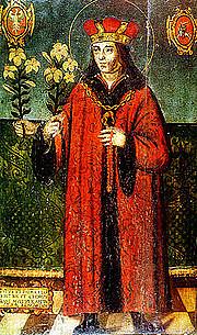Foto do autor. Saint Casimir Jagiellon / Painting of three-handed Saint Casimir (around 1520).