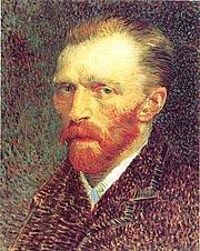 Author photo. . The description on its description page there is shown below.  Vincent van Gogh, Paris, Frühjahr 1887: Selbstbildnis (Öl auf Karton, 42 x 33,7 cm) Chicago, The Art Institute of Chicago