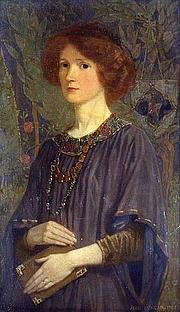 Författarporträtt. A 1907 portrait by John Duncan in Aberdeen Art Gallery