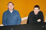 Kirjailijan kuva. Trevor Baxendale (right)