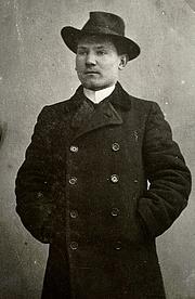 Kirjailijan kuva. Oskar Luts 1906