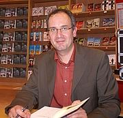 Forfatter foto. Volker Kutscher bei einer Lesung in Bielefeld am 30.September 2010/ Krimidoedel Dr. Jost Hindersmann