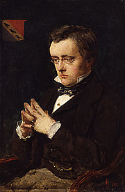 Forfatter foto. Portrait of Wilkie Collins (1850). Paiting in the National Portrait Gallery, London.