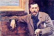 Kirjailijan kuva. Retrato de Benito Pérez Galdós pintado por J. Sorolla, 1894. Original en: Casa-Museo Pérez Galdós. Cabildo de Gran Canaria.