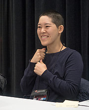 """Kirjailijan kuva. Jen Wang at BookExpo at the Javits Center in New York City, May 2019. By Rhododendrites - Own work, CC BY-SA 4.0, <a href=""""https://commons.wikimedia.org/w/index.php?curid=79387552"""" rel=""""nofollow"""" target=""""_top"""">https://commons.wikimedia.org/w/index.php?curid=79387552</a>"""
