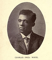 Foto do autor. Charles Frederick White. Frontispiece from Plea of the Negro soldier, and a hundred other poems ([c1908])