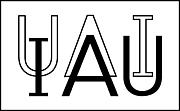 Författarporträtt. International Astronomical Union logo