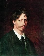Foto del autor. Ilya Repin (d. 1930).  Self portrait.