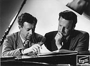 """Autoren-Bild. Britten with Peter Pears: Image © <a href=""""http://www.bildarchiv.at/"""">ÖNB/Wien</a>"""