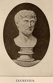 "Forfatter foto. From <a href=""http://en.wikipedia.org/wiki/Image:Lucretius.jpg"">Wikipedia</a>"
